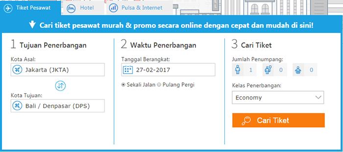 cara pesan tiket online