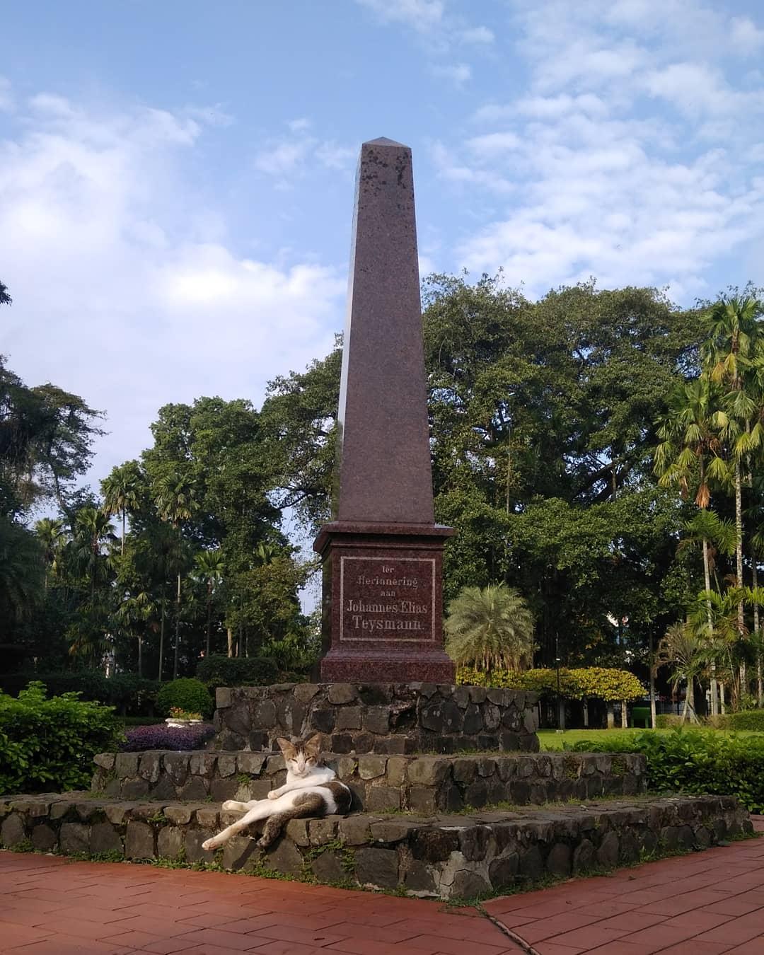 kebun raya bogor monumen lady raffles