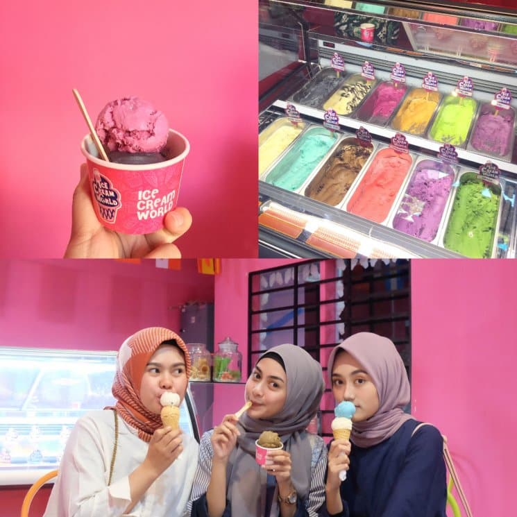 Eskrim di Ice Cream World Jogja