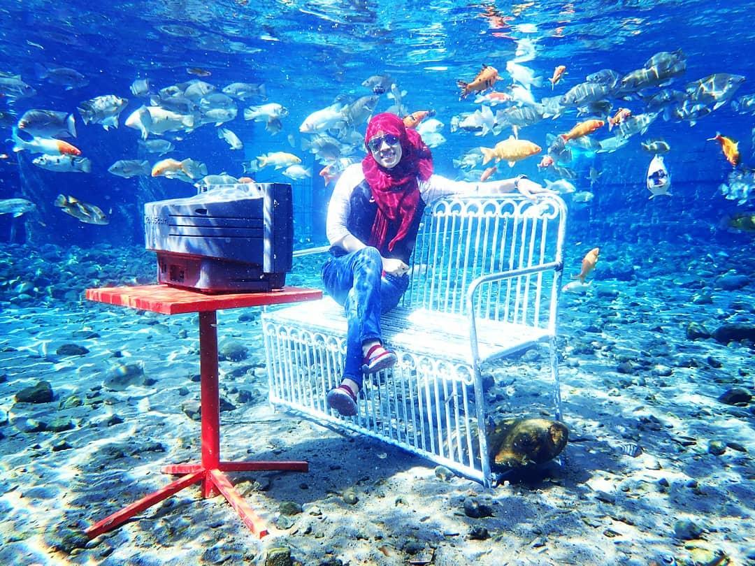 umbul ponggok spot foto underwater