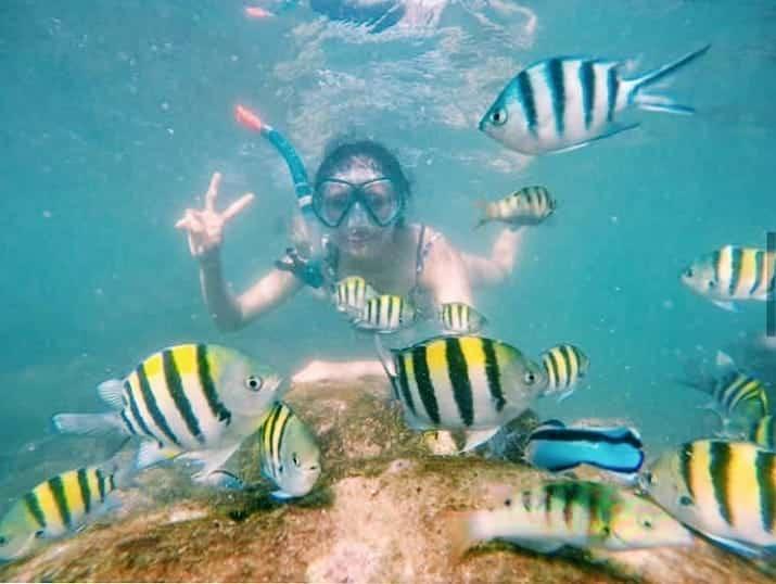Snorkling di Pantai Sadranan