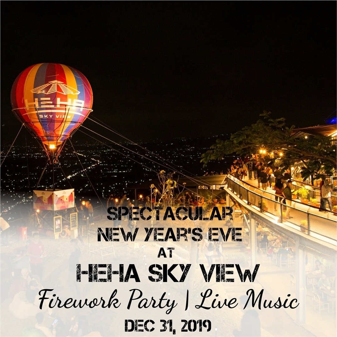 Acara Malam Tahun Baru di HeHa Sky View