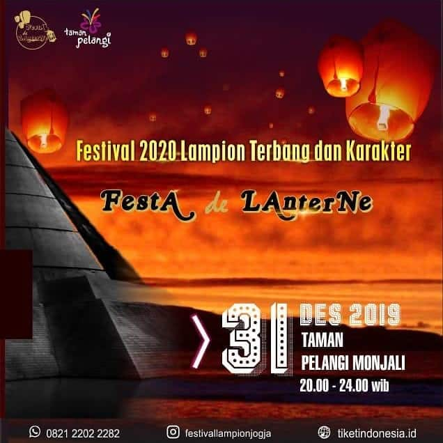 Acara Festa De Lanterne: Alternatif Tempat Tahun Baruan di Jogja