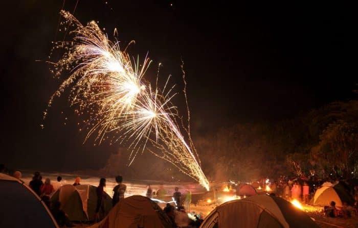 Tahun Baru di Pantai